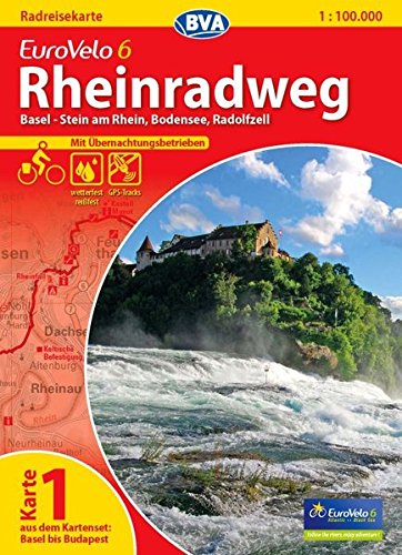 9783870736132: ADFC-Radtourenkarte Eurovelo 6 Karte 01. Rheinradweg 1 : 100 000