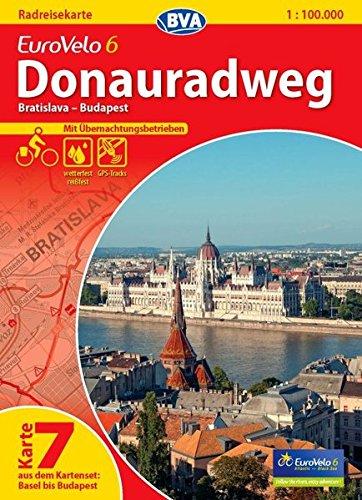 9783870736194: ADFC-Radtourenkarte Eurovelo 6 Karte 07. Donauradweg 1 : 100 000