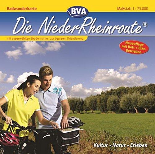 9783870736606: Radwanderführer Die NiederRheinroute 1 : 75 000: Kultur Natur Erleben. Mit ausgewählten Straßennamen zur besseren Orientierung
