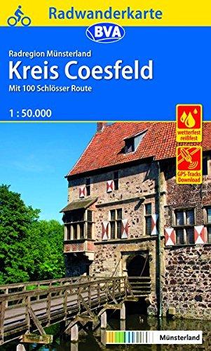 Radwanderkarte BVA Radregion Münsterland Kreis Coesfeld 1:50.000: Mit 100 Schlösser Route