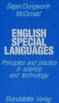 English special languages: Sager, Juan C.
