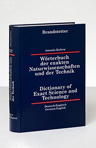 Wörterbuch 2 der exakten Naturwissenschaften und der Technik. Deutsch - Englisch: Antonin ...