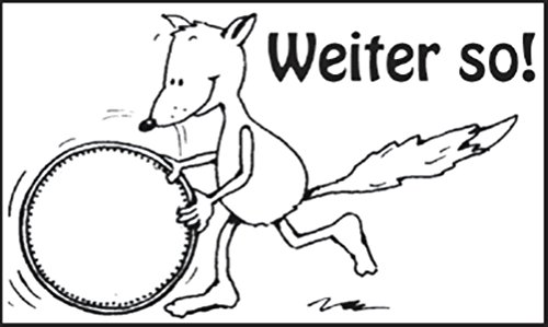 Weiter so! Holzstempel: Belobigungsstempel auf Deutsch. Würfel, Sticker, Stempel - Stempel