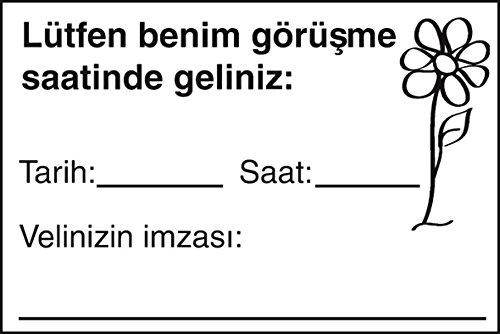 Bitte kommen Sie in meine Sprechstunde! Holzstempel. Türkisch: Würfel, Sticker, Stempel -...