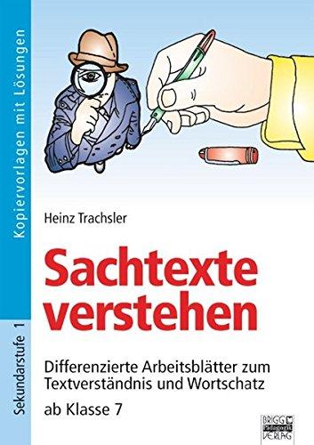 9783871017735: Brigg: Deutsch. Sachtexte verstehen ab Klasse 7. Kopiervorlagen mit Lösungen: Differenzierte Arbeitsblätter zum Textverständnis und Wortschatz
