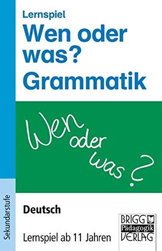9783871018589: Lernspiele - Deutsch. Wen oder was? Grammatik: Deutsch - Lernspiel ab 11 Jahren. Lernspiel. 80 Frage- und Antwortkarten