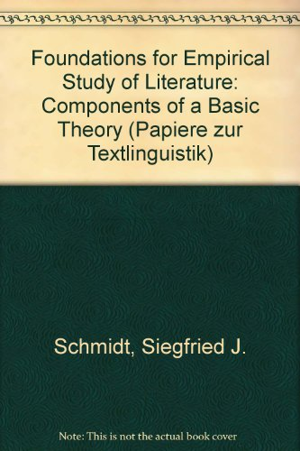 9783871185335: Foundations for Empirical Study of Literature: Components of a Basic Theory (Papers in textlinguistics)