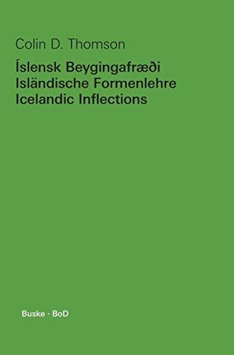 Islensk beygingafræði / Islandische Formenlehre / Icelandic inflections (...