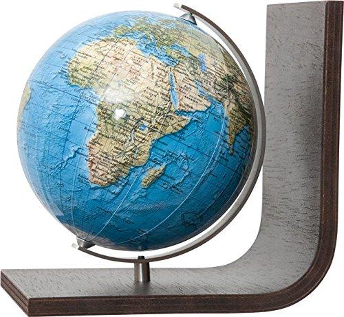 9783871294822: COLUMBUS DUORAMA: Bücherstütze, physisch, unbeleuchtet, 12 cm Durchmesser, handkaschiert, Holzfuß braun, Meridian edelstahl