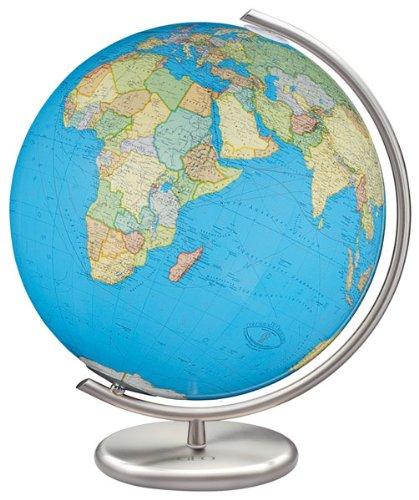9783871298226: Columbus GEO Leuchtglobus politisch, 40 cm Durchmesser: handkaschiert, Metallfuß: Edelstahlausführung; Metallmeridian: Edelstahlausführung