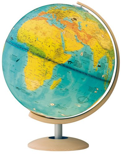 9783871298998: GEOlino Leuchtglobus 113455-03: Fuß und Meridian Holz massiv. Kartografie: Klima, illustriert