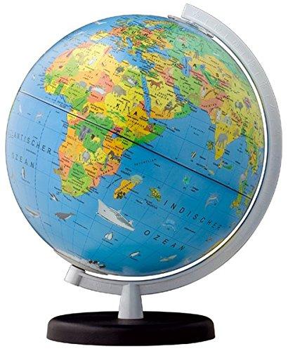 columbus kinder leuchtglobus terra d 260 mm mit begleitheft globus mit licht und einem begleitbuch fur kinder weltkarte
