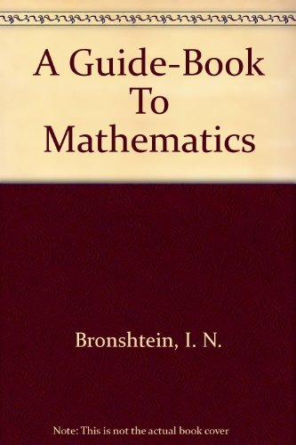 9783871440953: A guide-book to mathematics,
