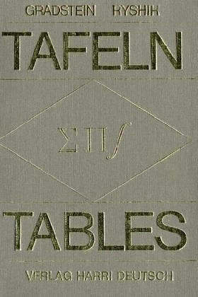 9783871443503: Tables of Series, Products and Integrals