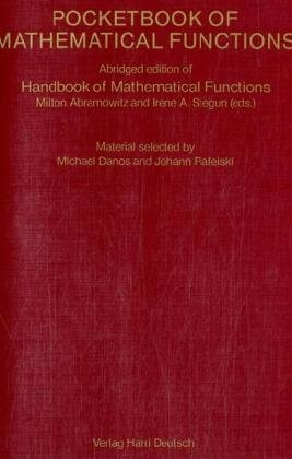 Pocketbook of Mathematical Functions: Milton Abramowitz; I.
