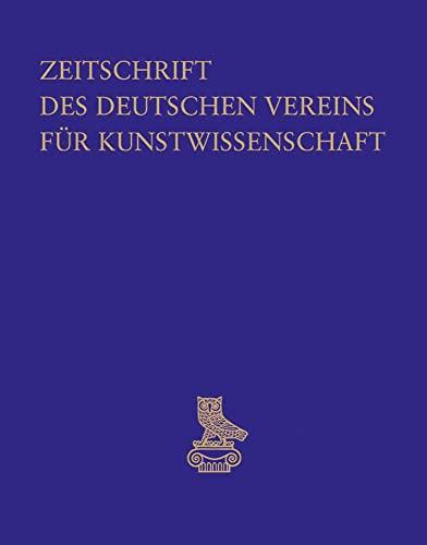 9783871572388: Zeitschrift Des Deutschen Vereins Fur Kunstwissenschaft: Band 66 (2012)