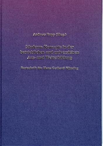 Moderne Konzepte in der betrieblichen und universitären Aus- und Weiterbildung: Andreas Rupp