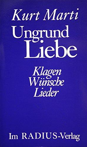 9783871737381: Ungrund Liebe (Radius Bücher)