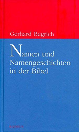 9783871739231: Namen und Namengeschichten in der Bibel