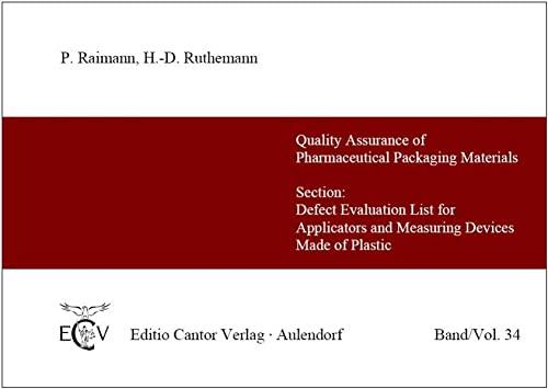9783871931055: Fehlerbewertungsliste für Applikatoren und Meßeinrichtungen aus Kunststoff
