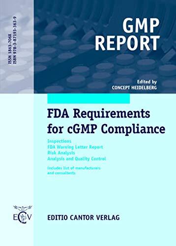 FDA Requirements for cGMP Compliance