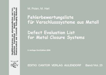 Fehlerbewertungsliste für Verschlusssysteme aus Metall: M. Polan