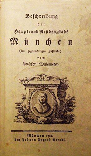 9783872490834: Beschreibung der Haupt- und Residenzstadt M�nchen
