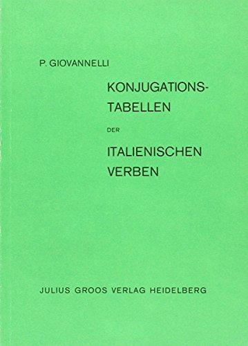 9783872761217: Konjugationstabellen der italienischen Verben