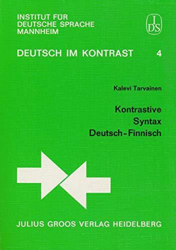 9783872765314: Kontrastive Syntax Deutsch-Finnisch (Deutsch im Kontrast) (German Edition)