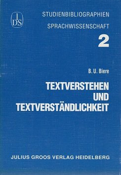 9783872766519: Textverstehen und Textverständlichkeit