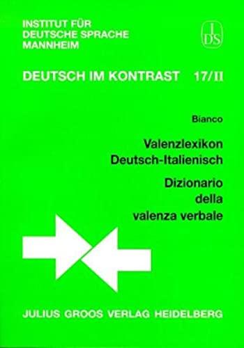 9783872767660: Valenzlexikon deutsch-italienisch =: Dizionario della valenza verbale (Deutsch im Kontrast) (German Edition)