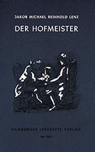 9783872911674: Der Hofmeister oder Vorteile der Privaterziehung: Eine Komödie
