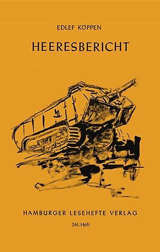 9783872912404: Heeresbericht
