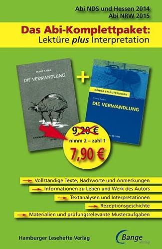 9783872919038: Die Verwandlung - Abi Niedersachsen 2014 - Das Abi-Komplettpaket: Lektüre plus Interpretation