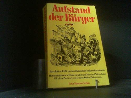 Aufstand der Bürger: Revolution 1849 im westdeutschen: Goebel K et