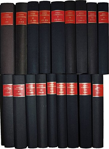 Index Aureliensis;: Catalogus librorum sedecimo saeculo impressorum (Bibliotheca bibliographica ...