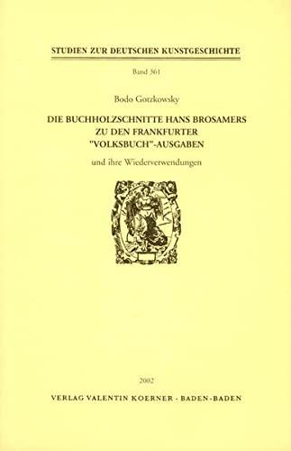 Die Buchholzschnitte Hans Brosamers zu den Frankfurter