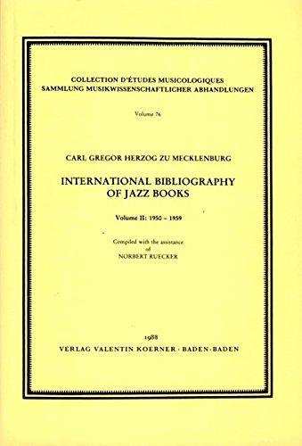International Bibliography of Jazz Books: 1921-1949 AND: G zu Mecklenburg,