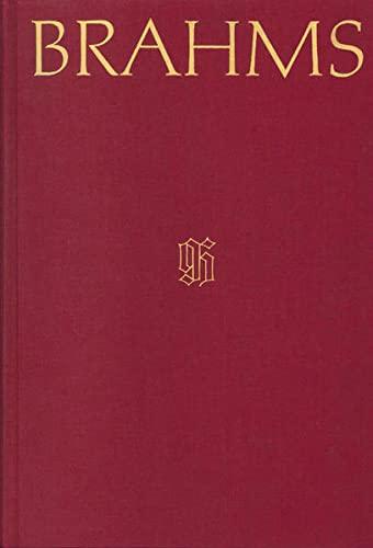 Johannes Brahms Werkverzeichnis: Margit L. McCorkle