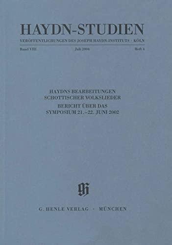 Haydn-Studien. Veröffentlichungen des Joseph Haydn-Instituts, Köln / Haydn-Studien. ...