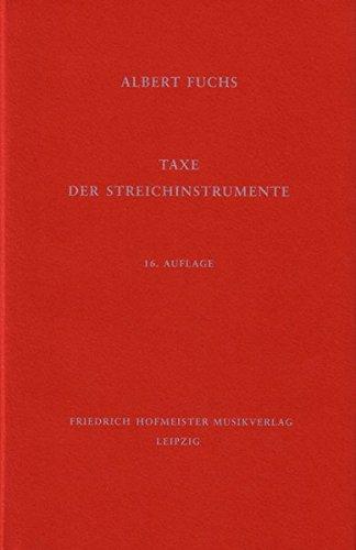 9783873500181: Taxe der Streichinstrumente