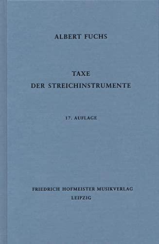 9783873500433: Taxe der Streichinstrumente