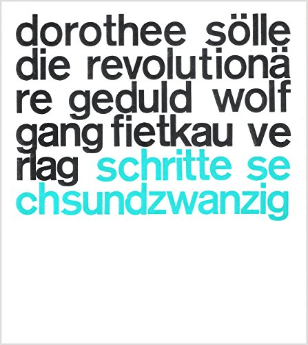 9783873520264: Die revolutionare Geduld: Gedichte (Schritte ; 26) (German Edition)