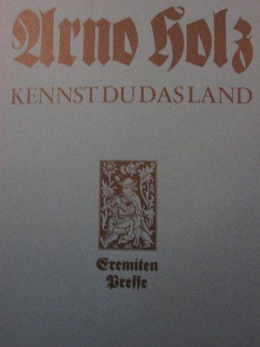 Kennst du das Land : e. lyr. Schriftwechsel mit Hans Schlegel.