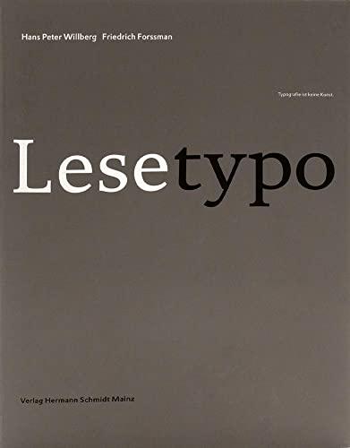 9783874398008: Lesetypografie (German Edition)