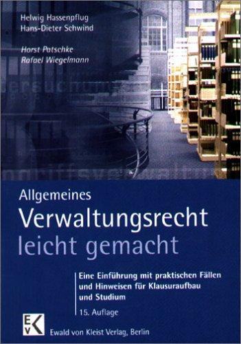 9783874402033: Allgemeines Verwaltungsrecht leicht gemacht