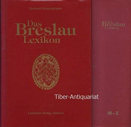 Das Breslau-Lexikon. Zweiter Band. Teil: M -: Scheuermann, Gerhard: