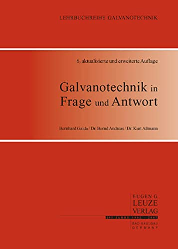 9783874802208: Galvanotechnik in Frage und Antwort