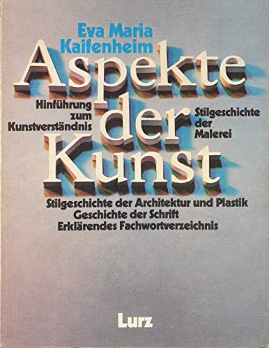 9783875010602: Aspekte der Kunst - Ein Lehr- und Arbeitsbuch zur Kunsterziehung