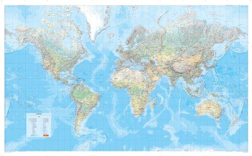 9783875044164: Weltkarte grosse in koker 1:27,5 mio.